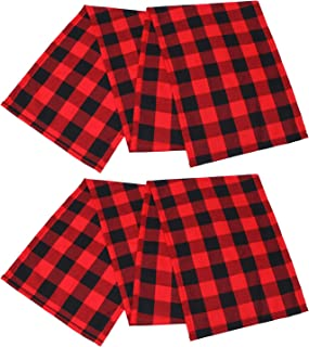 Best red buffalo plaid material Reviews