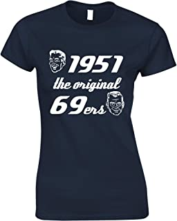 Tim And Ted Birthday Womens Tshirt 1951 The Original 69er
