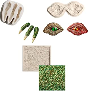 BaoBae Set of 3 Dragon Squama Eyes Claws Silicone Fondant Mold DIY Sugarcraft Cake Topper Decoration