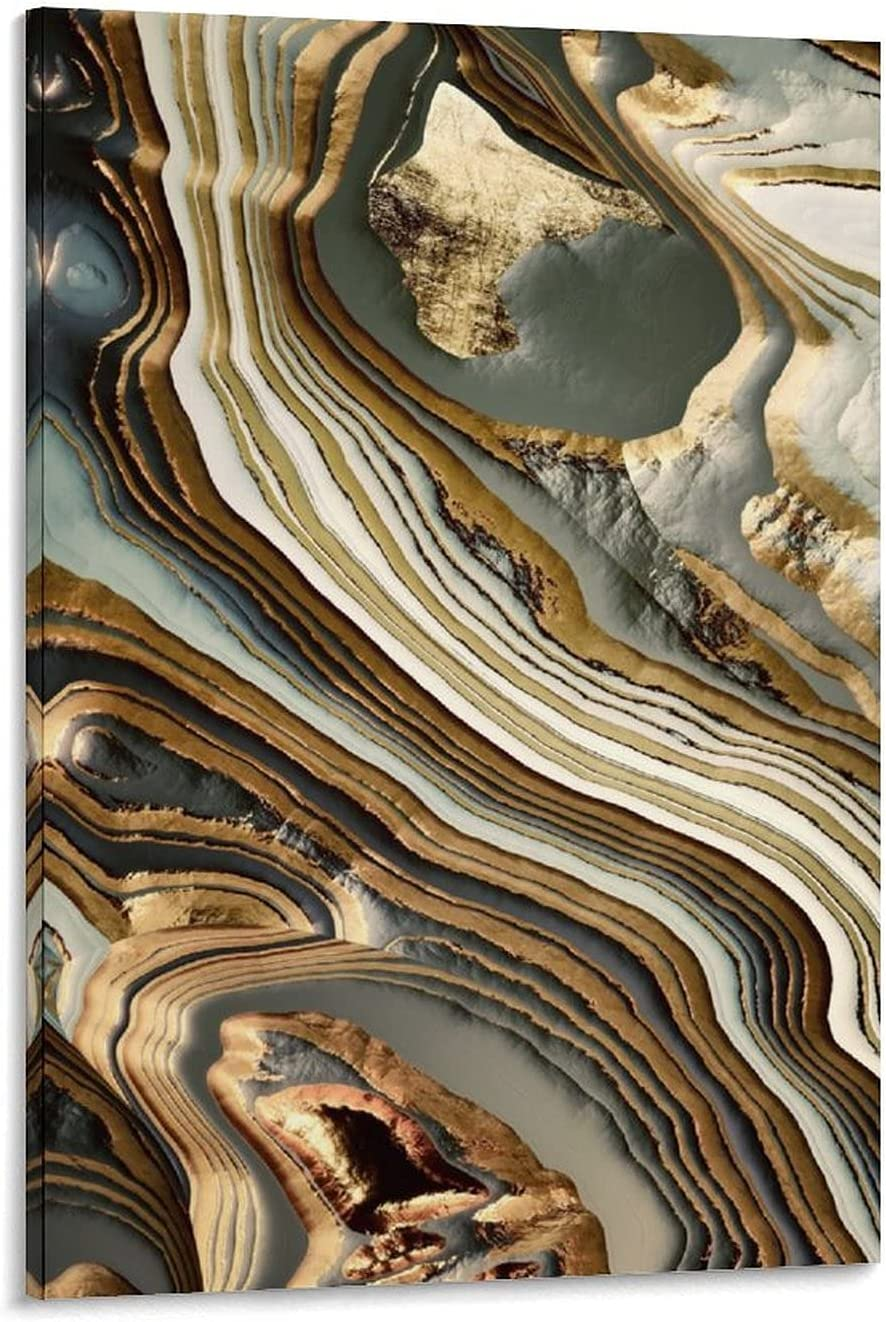 YOLOXO White Gold Agate Abstract Post Wall Art Ranking TOP17 Ranking TOP15 Canvas