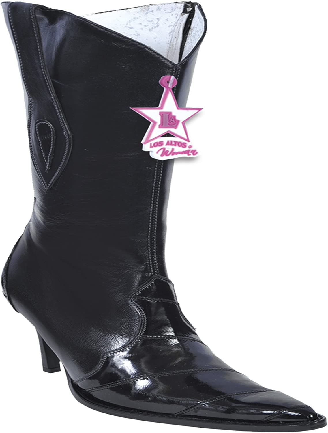 Women's High Top Genuine Leather EEL Anguila Skin Western Boots