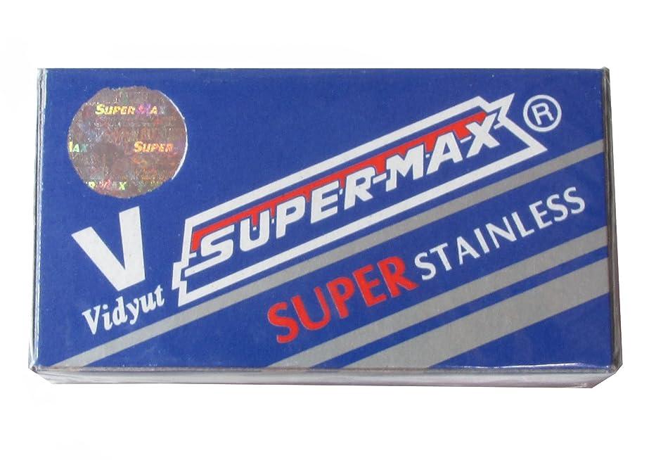 共産主義欠伸ほこりSuper-Max Super Stainless 両刃替刃 100枚入り(10枚入り10 個セット)【並行輸入品】
