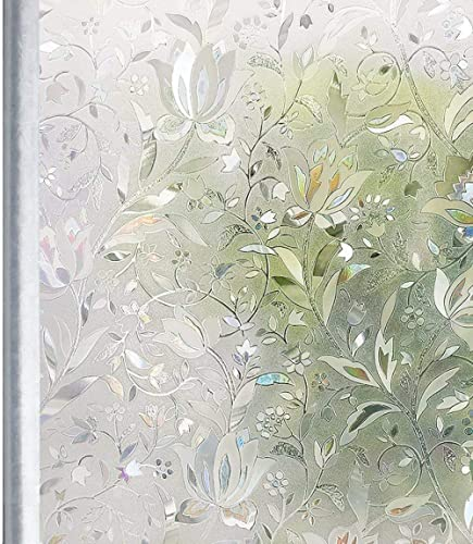 Weiß Tulpe Fensterfolie selbsthaftend Milchglasfolie Blickdicht Sichtschutzfolie