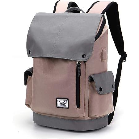 WindTook Rucksack Herren Damen Schulrucksack Daypack Laptop Rucksack mit USB Anschluss für 15,6 Zoll Notebook , Uni Büro Freizeit Arbeit Schule, 30x17x45cm