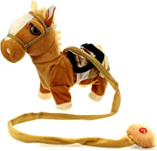 My First Pony Walk Along Toy Stuffed Plush Pony Toy, Realistic Walking Actions with Horse Sounds and Music (Colors May Vary)