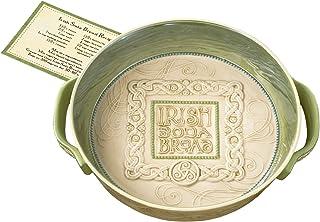 Grasslands Road Celtic Irish Soda Bread Handled Baking Dish with Soda Bread Recipe - Kitchen Baking Accessories, 9 Inches