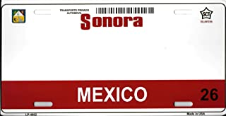 Smart Blonde Sonora Mexico Blank Background Metal License Plate