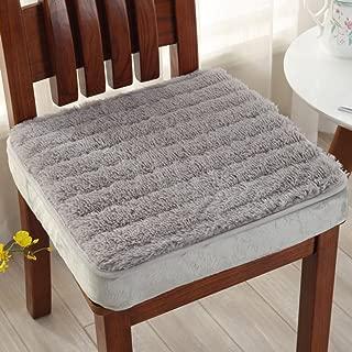 YQ WHJB Booster Cushion,Nonslip Seat Cushions,Extra-thick Plush Square Firm Office Car Adult Children Chair Cushion Pad-gray 50x50cm(20x20inch)
