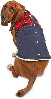 Bond & Co. Flannel Color Block Dog Jacket