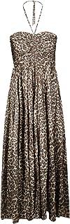 ZIMMERMANN Women's 6351DSURKHAKILEOPARDKHL Beige Silk Dress
