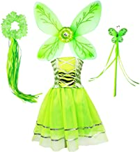 Danballto Princess Birthday Dress for Girl Party Tutu Dress Up Costume Butterfly Wings Halo Tutu Dress Fairy Wand