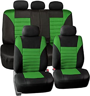 FH Group FB068GREEN115 Green Universal Car Seat Covers Premium 3D Airmesh Design Airbag and Rear Split Bench Compatible