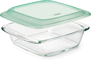 OXO Good Grips Freezer-to-Oven Safe 2 Qt Glass Baking Dish with Lid,Clear,8 x 8