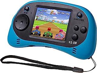EASEGMER Kids Handheld Game Portable Game Video Player with 200 Games 16 Bit 2.5 Inch Screen Mini Retro Electronic Game Machine، بهترین هدیه برای کودک (آبی)