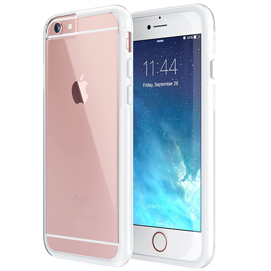 True Color Case Compatible iPhone 6s Case, Crystal Clear Hybrid Cover Hard Back + Soft Slim Thin Durable Protective Shockproof TPU Bumper Cover Skin [Ultra Clear Collection] – White
