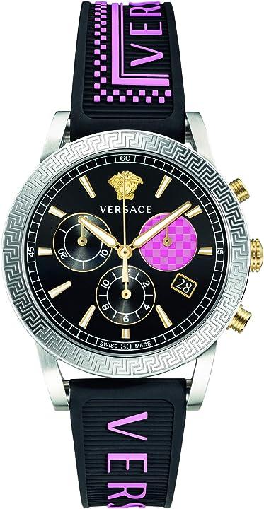 Orologio donna versace sport tech velt00619 orologio da donna in acciaio, 40 mm