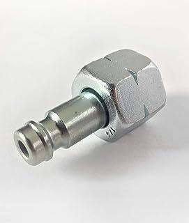 """Gas Schnellkupplung Adapter an Gaskocher, Gasgrill oder Caravan STN Stecknippel auf ¼"""" Links I für Steckkupplung am Gasschlauch anschließen ohne Werkzeug"""