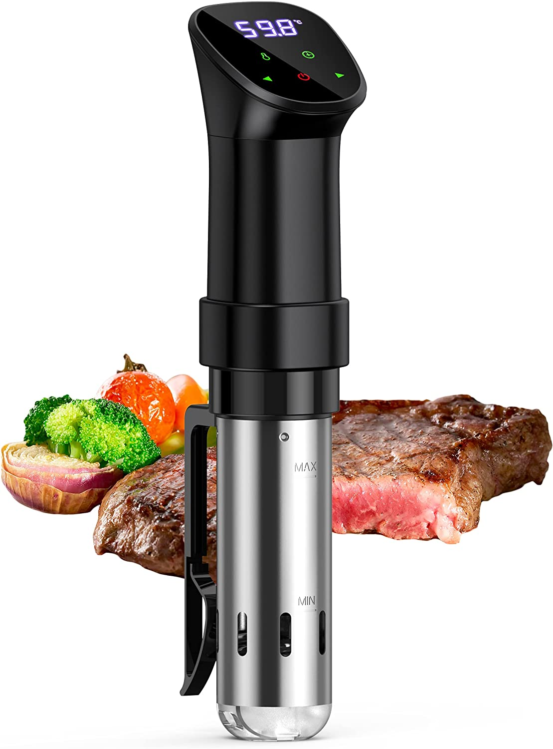 UNIROI Sous Vide Cooker, 1000 Watts Instant Pot Slim Water Cooker Suvee vide Machine Precision Cooker and Immersion Circulator -Black, Normal