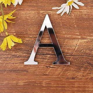 Spiegel Buchstaben Wandaufkleber, 3D DIY Kreativ Acryl 26 Al