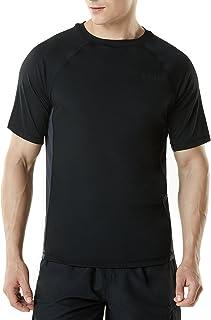 (テスラ)TESLA メンズ 半袖 ラッシュガード [UVカット UPF50+・吸汗速乾]スイムシャツ (1サイズ ダウン)