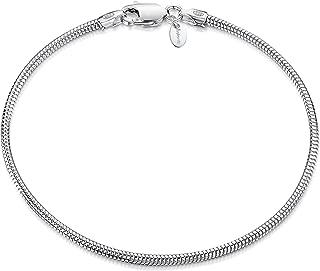 925 Sterling Silver 1.9 mm Snake Chain Bracelet Size 7