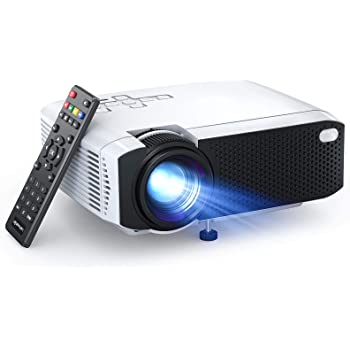 """APEMAN LC350 Mini Projector, 4500L Brightness, Support 1080P 180"""" Display, Portable Movie Projector, 45,000Hrs LED Life and Compatible with TV Stick, PS4, HDMI, TF, AV, USB for Home Entertainment"""