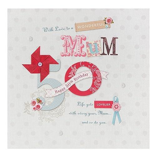 Hallmark 50th Birthday Card For Mum Pamper Yourself