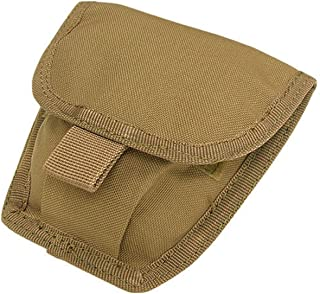 CONDOR MA47 MOLLE Modular Belt Mount Double Handcuff Pouch COYOTE BROWN