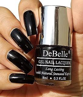 DeBelle Gel Nail Polish Luxe Noir (Black Nail Polish), 8ml