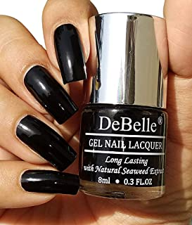 DeBelle Gel Nail Polish Luxe Noir 8ml- (Black Nail Polish)