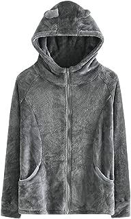 Women Faux Fur Jacket Plush Coat Hooded Outerwear Fashion Solid Winter Jacket Warm Zipper Coats Long Sleeve