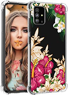 Compatible with Samsung Galaxy A51 Case - Flower Pattern, Cute Girly Floral, Soft Anti Scratch & Collision TPU Cover-2