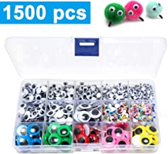 1100Pcs Googly Wiggle Eyes Self Adhesive Jiggle Craft Eyes with Muti-Colors and Sizes for School Projects and DIY Activities