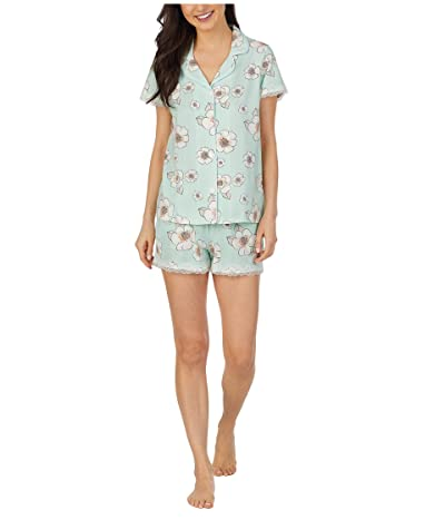 BedHead Pajamas Short Sleeve Classic Shorty Pajama Set (Forever Flower) Women