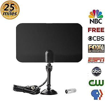 Antena de TV HD Amatt de 25 millas para interiores HD para ...