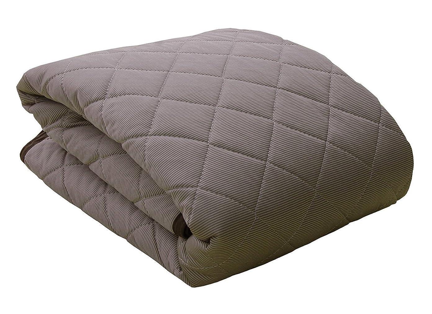 廊下皮肉な反響するセミダブルサイズ 接触冷感 敷きパッド「 レノ 」【IT-tm】サイズ:120×205cm ブラウン(#9810689)