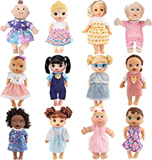 Girl Doll Clothes and Accessories - 12 Sets Doll Clothes Dress for 12 13 14 Inch Doll -...