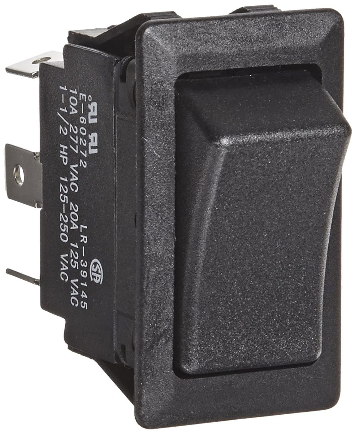 Rocker Switches, On-On Circut Function, DPDT, 20/10 amps at 125/250 VAC, 0.75
