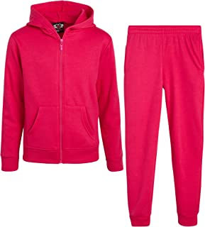 Real Love Girls' Jogger Set - 2 Piece Basic Fleece Hoodie and Sweatpants (Size: 7-16)
