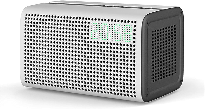 XINXI-YW Altavoces Bluetooth Altavoz Bluetooth WiFi Speaker inalámbrico Bluetoth Alexa Soporte de Altavoz DLNA con Reloj Despertador (Color : White)