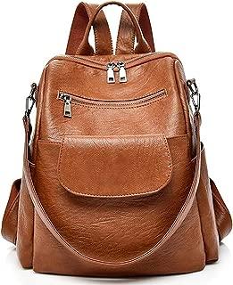 Women Fashion Pu Leather Backpack Purse Waterproof Colloge Bookbag Shoulder Bag …