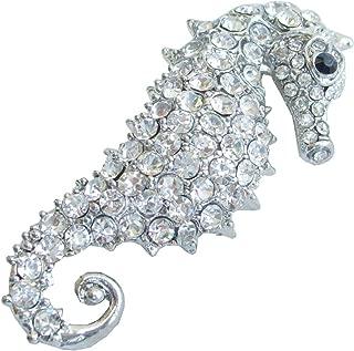 silver seahorse brooch