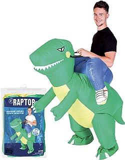 Original Cup - Disfraz Hinchable con Bomba de Aire USB, Traje Inflable Adultos para Fiesta, Conciertos, Halloween - Raptor