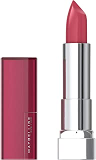 Maybelline Color Sensational Lipstick, Lip Makeup, Cream Finish, Hydrating Lipstick, Nude, Pink, Red, Plum Lip Color, Pink Pose, 0.15 oz. (Packaging May Vary)