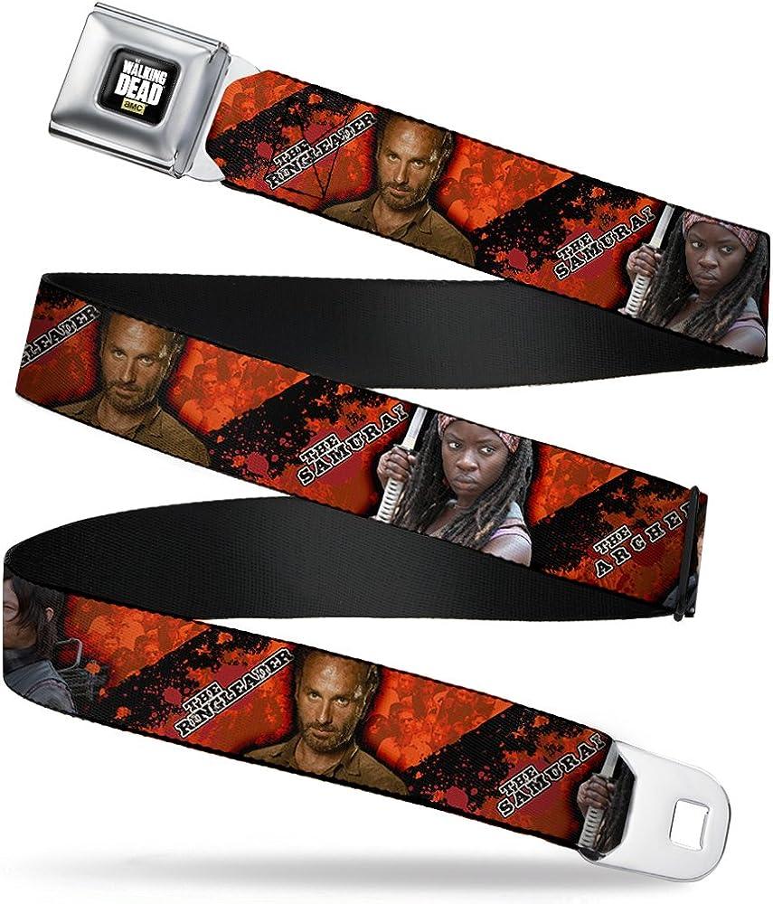 Buckle-Down Boys' Archer/Ring Leader/Samurai Poses Zombie Stripe Seatbelt Belt