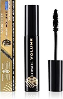 Marcelle Ultimate Volume Waterproof Mascara, Black, Hypoallergenic and Fragrance-Free, 0.33 fl oz