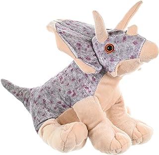 "Wild Republic Triceratops Plush, Dinosaur Stuffed Animal, Plush Toy, Gifts for Kids, Cuddlekins 12"", Multicolor, Model:10960"