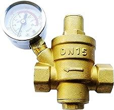 Water Pressure Regulator Brass Lead-Free Adjustable DN15 1/2inch Bspp Water Pressure Reducing Valve with Pressure Gauge Bar/Psi
