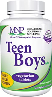 Michael's Naturopathic Programs Teen Boys Tablets - 60 Vegetarian Tablets - Daily Multivitamin Supplement with B Complex V...