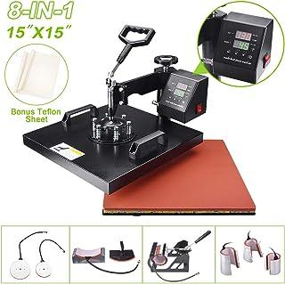 "Seeutek 8 in 1 Power Heat Press Machine 15"" X 15"" Professional Swing Away Heat Transfer Digital Sublimation 360-Degree Rot..."